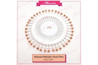 Natasia Metallic Pearl Pins / Jarum Peniti Mutiara / 3 colours