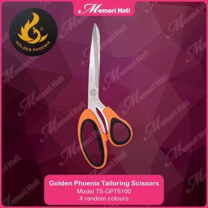 TS-GPT6100 Golden Phoenix Tailoring Scissors Gunting Kain for right & left-handed/kidal / 4 random colours