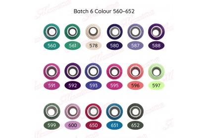 10pcs 250m Benang Jahit Biasa Cap Kucing / Batch 3 Colour 416 - 452