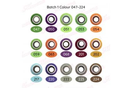 10pcs 250m Benang Jahit Biasa Cap Kucing / Batch 5 Colour 529 - 559