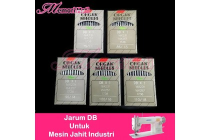 ORIGINAL!! Japan Organ Needle (Highspeed) DB#11, 13, 14, 16 & 18 / Jarum Mesin Industri