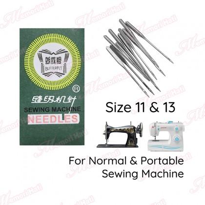10pcs Butterfly HAX Sewing Machine Needles / Jarum Mesin Jahit Biasa & Portable